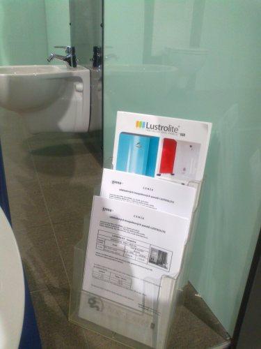 Lustrolite for bathrooms and shower