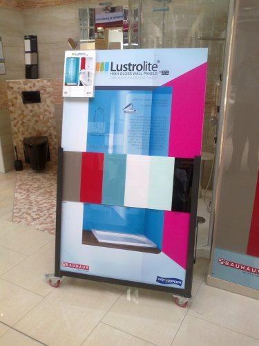 obkladové panely Lustrolite lze vidět v BAUHAUSu