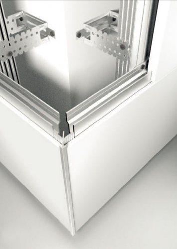Příklady použití hliníkových upevňovacích profilů na kovovém CD - UD roštu